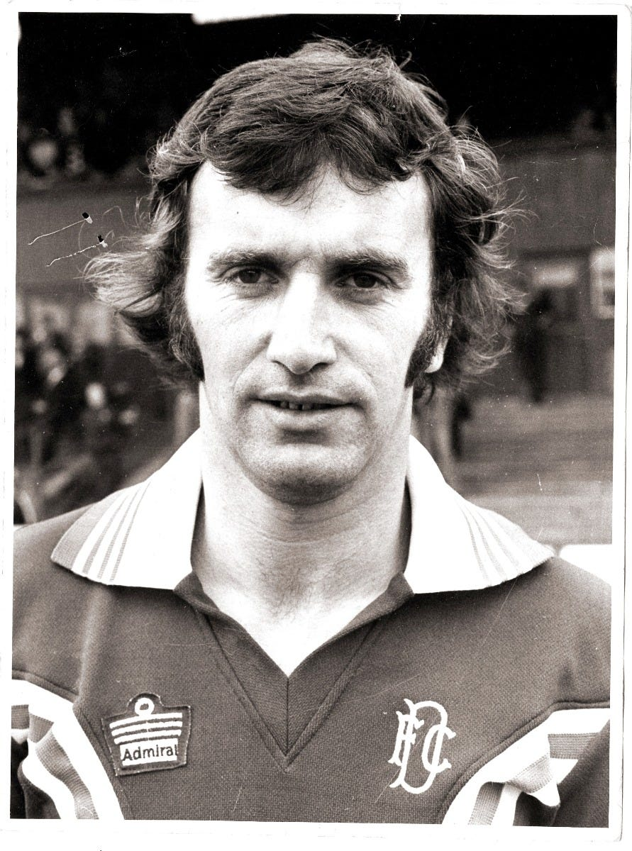 Billy Pirie of Dundee Football Club 1976