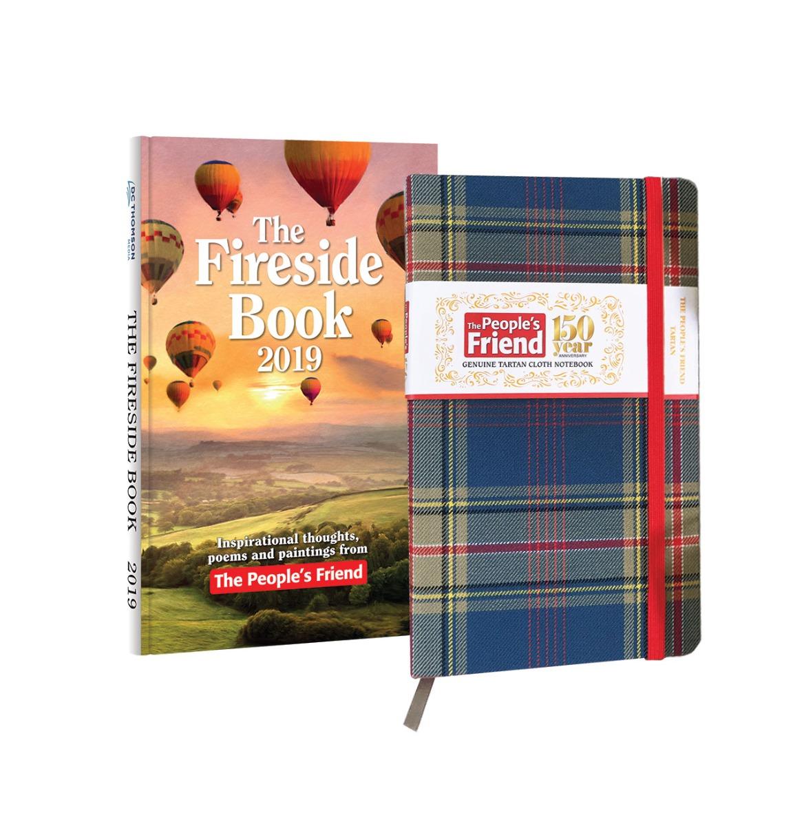 The People's Friend Tartan Notebook & 2019 Fireside Book Pack