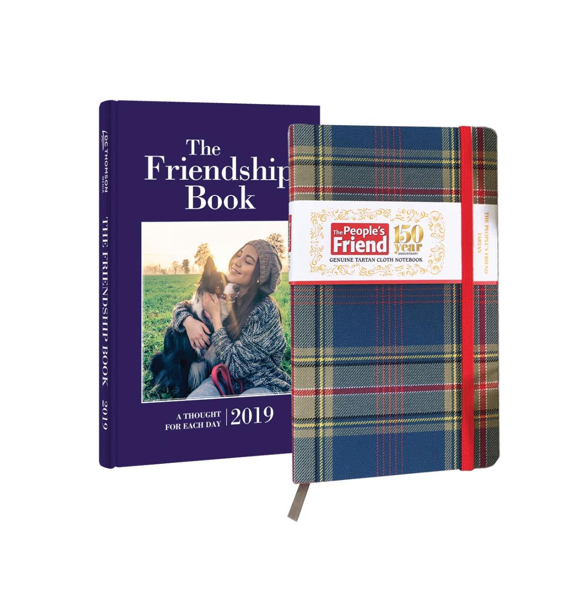 The People's Friend Tartan Notebook & 2019 Friendship Book Pack