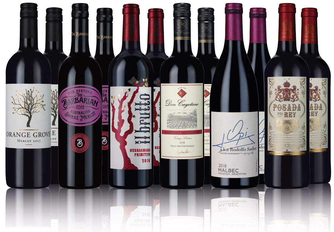Product image for Classic Wine Red Selection (12 bottles)