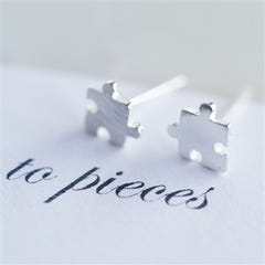 Tiny Love You To Pieces Stud Earrings