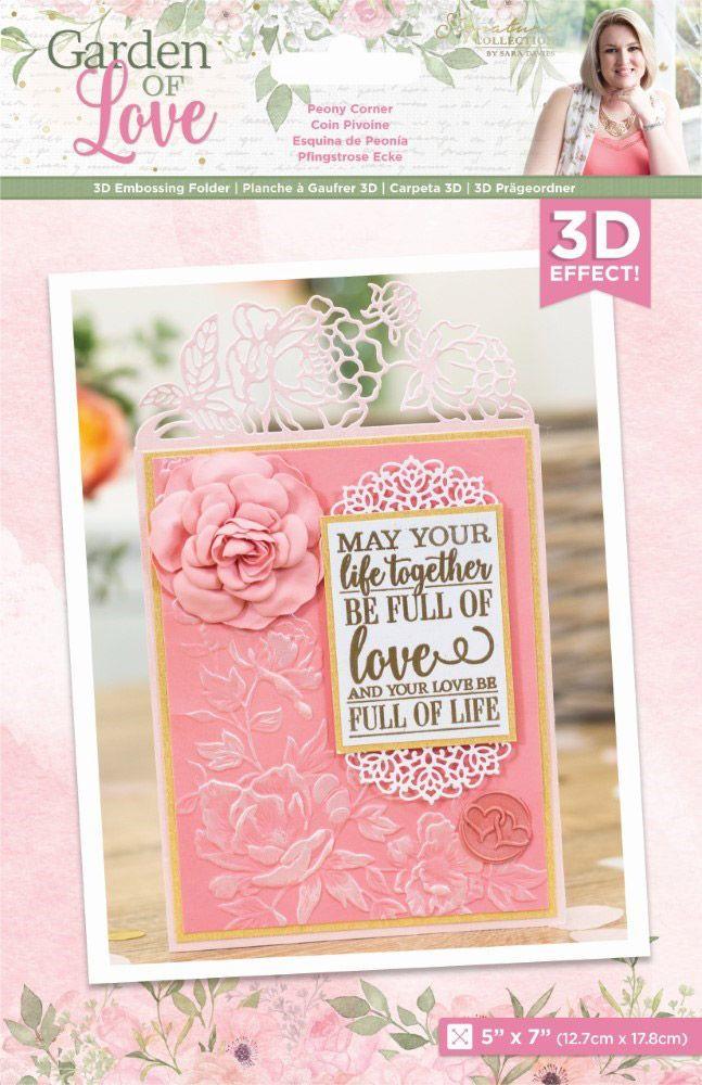 Image of Garden of Love - 3D Embossing Folder - Peony Corner