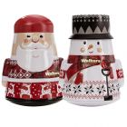Walkers Christmas Santa and Snowman Tins