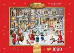 Music In The Street Jigsaw Puzzle