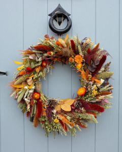 Autumn Fall Dried Flower Wreath