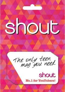 Shout Magazine Subscription Gift Card