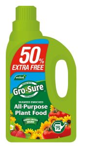 Gro-Sure Super Enriched All-Purpose Plant Food 1L + 50% Extra FREE