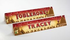Personalised Santa Milk Chocolate Toblerone