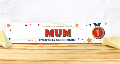 Personalised Everyday Superhero White Chocolate Toblerone 360g