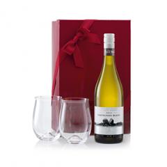 New Zealand Sauvignon Blanc and Stemless Glasses Gift