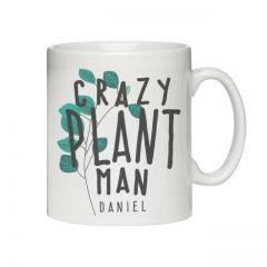 Personalised Crazy Plant Man Mug