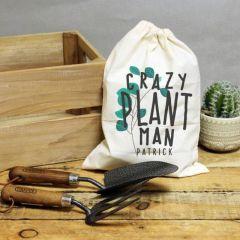 Personalised Crazy Plant Man Garden Tool Set