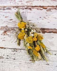 Bunch of Dried Flowers in Yellow