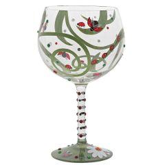 Ladybug Gin Glass