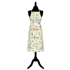 Herb Garden Cotton Apron with Front Pocket
