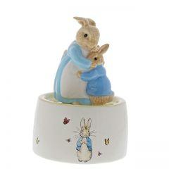 Mrs Rabbit & Peter Ceramic Musical Figurine