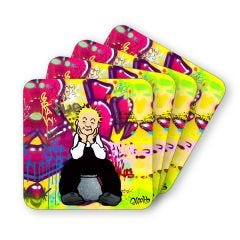 A'Body's Wullie Coasters Set of 4