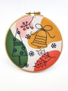 Abstract Christmas Embroidery Kit