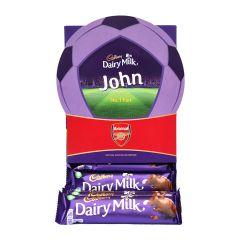 Personalised Cadbury Football Hamper - Arsenal