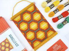 Bargello Tapestry Kit - Honeycomb Wall Hanging Kit