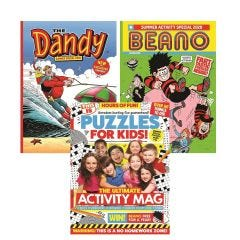 The Beano & Dandy Summer Specials with Puzzles for Kids