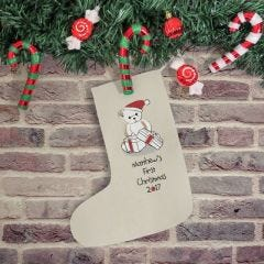 Bear My First Christmas Stocking