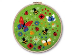 Bees and Butterflies Embroidery Kit
