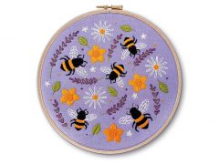 Bees and Lavender Embroidery Kit