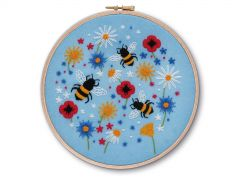 Bees and Wildflowers Embroidery Kit
