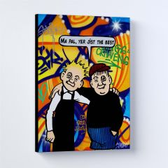Oor Wullie Best Pals Large Sleek Prints and Canvases