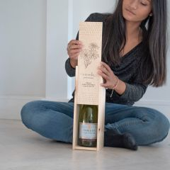 Personalised Birthflower Wine Box