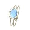 Blue Crystal Hinged One Size Bangle