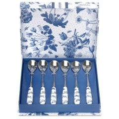 Botanic Blue Tea Spoons Set