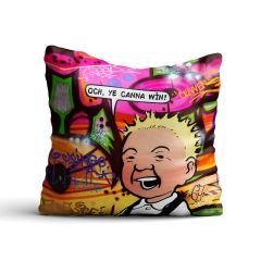 Oor Wullie Ye Canna Win Cushion
