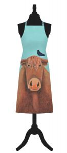 Broon Coo Cotton Apron by Ailsa Black