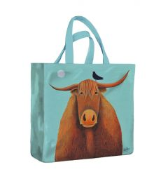 Broon Coo Shopping Bag by Ailsa Black