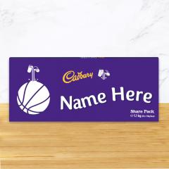 Personalised Cadbury Dairy Milk Chocolate Basketball Emoji Share Pack