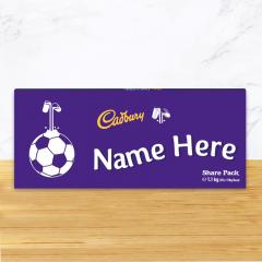 Personalised Cadbury Dairy Milk Chocolate Football Emoji Share Pack