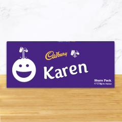 Personalised Cadbury Dairy Milk Chocolate Smiley Emoji Share Pack