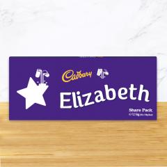 Personalised Cadbury Dairy Milk Chocolate Star Emoji Share Pack