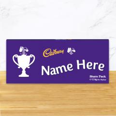 Personalised Cadbury Dairy Milk Chocolate Trophy Emoji Share Pack