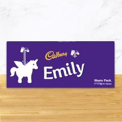 Personalised Cadbury Dairy Milk Chocolate Unicorn Emoji Share Pack