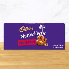Personalised Cadbury Fruit & Nut Share Pack