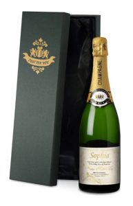Personalised Mother's Day Golden Flowers Champagne