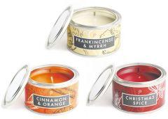 Christmas: Cinnamon & Orange, Christmas Spice & Frankincense & Myrrh Pack of 3 Candles