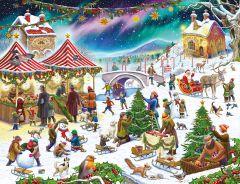 Christmas Village Fair - Rudolf Farkas 1000 Piece Jigsaw Puzzle