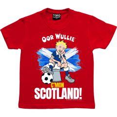 Oor Wullie C'MON SCOTLAND T-Shirt - Children's