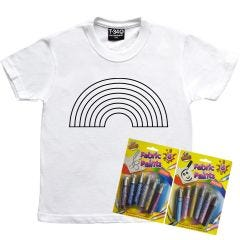 Colour your own Rainbow T-Shirt Kids