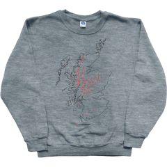 Corbetts Map Sweatshirt