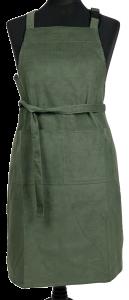 Corduroy Kitchen Apron Olive